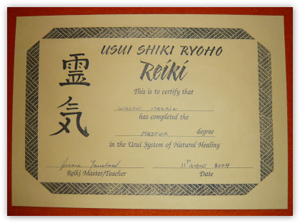 Diplome Reiki Vierge à Imprimer
